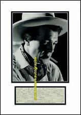 Gary Cooper Virginian Beau Geste High Noon Part Contract B  Autograph UACC RD 96