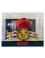 Rocky Balboa Boxing Glove & Belt In Case Signed By Sylvester Stallone 100% + COA