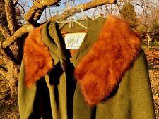 ANTIQUE MINK FUR Coat Blazer Jacket VOGUE Womens Sz 12 14 Arm Lengh 21.5 Bust 22