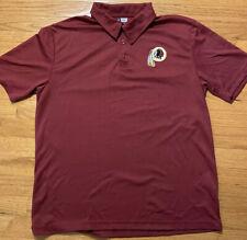 Mens NFL Team Apparel, Washington Redskins, TX3 Cool Polo, Size Large Golf Shirt