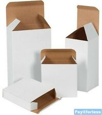 "3"" x 3"" x 4""  White Reverse Tuck Inner Packaging Light Carton Boxes 500 Pc"