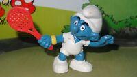 Smurfs Tennis Smurf Sports Rare Vintage Classic Display Figurine