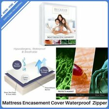 Mattress Encasement Cover Waterproof Zippered Bedding Protector California King