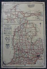 "New Listing1927 Michigan ""Junior"" Road Map - Rand McNally- Very Good Condition"
