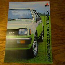 MITSUBISHI MOTORS COLT 1200 1.2 1400 1.4 GLX 3 5 door Hatchback Brochure 1982