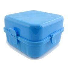 Frühstücksbox 4 Fächer | Vesper und Brotdose blau | Brotbüchse Kinder | Schüler
