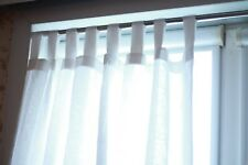 """Linen curtains/1 Panel/width is 55""""/length any to order/Brown Blue Gray White"""