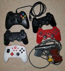 Joblot of controllers PS3, PS1 light gun, Nintendo switch