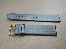 Uhrenarmband Leder silber blau Ersatzband 18mm  b48
