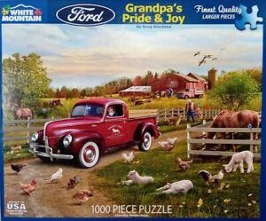 White Mountain GRANDPAs PRIDE & JOY Ford 1540 Jigsaw Puzzle 1000p 24x30 Giordano