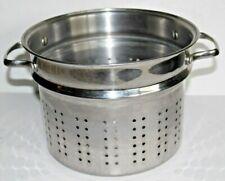 """Tramontina Stainless Steel Steamer Stock Pot Insert Pasta Vegetable Strainer 10"""""""