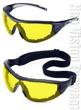 Gateway Swap Yellow/Amber Anti Fog Foam Padded Safety Glasses Hybrid Goggles Sun