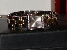 Pre-Owned Women's Timex Gold & Silver Tone Rhinestone Dress Analog Watch