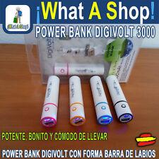 Power Bank Forma de Pintalabios 3000 mAh Cargador Móvil Smartphone Iphone Tablet