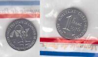 WEST AFRICAN STATES - 1 FRANC UNC COIN 1976 YEAR ESSAI SPECIMEN KM#E8 MINT PACK