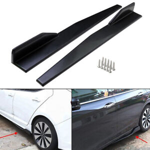 2pcs/Set Universal Black Car/Auto Side Skirt Splitters Winglet Wings Protector