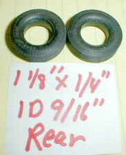 """1Pr 1960's rear ribbed Goodyear tires by Revell Monogram 1 1/8""""X1/4""""x9/16"""" 1/24"""