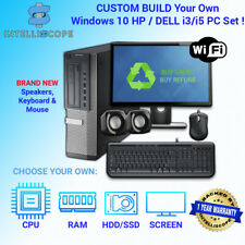 DELL/HP i5 QUAD DESKTOP TOWER PC & TFT COMPUTER SET 16GB WINDOWS 10 HDD & SSD