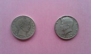 US Barber Half plus Kennedy Silver Half Dollars (read description !)
