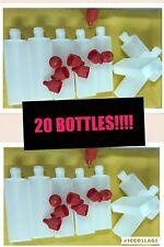 20 x 50ml Empty Plastic Liquid Dropper Bottles THIN To POST As LETTER Vape