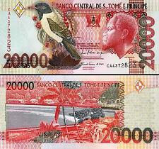 St. Saint Thomas & Prince 20000 20,000 Dobras 2010 Unc 2 Pcs Pair P 67d