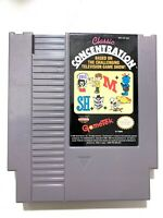 Classic Concentration ORIGINAL Nintendo NES Game Tested + Working & Authentic!