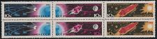 Russia SC2732 BlockOf6-Sputnik&Earth-Vostok-Earth&Moon Rocket&SunMNH 1963