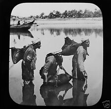Glass Magic Lantern Slide WATER CARRIERS CAIRO C1900 EGYPT EGYPTIANS