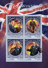 Sierra Leone 2016 MNH Winston Churchill 4v M/S Charles de Gaulle Stamps
