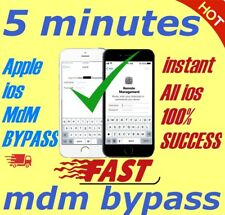 APPLE MDM BYPASS IPHONE /IPAD /IPOD  iOS  12.3.1 SUPPORTED [INSTANT]