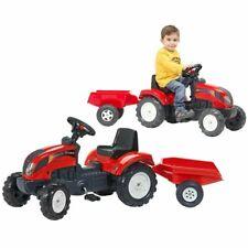 FALK Tracteur avec Remorque Rouge Jouet pour Enfants de 2 à 5 Ans 30 kg