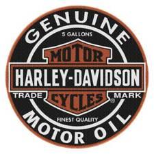Harley-Davidson Slick Genuine B&S Round Rug, 22.5 inches, Black NW117362