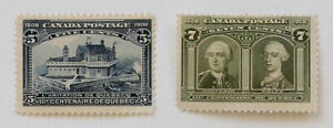 Canada - Quebec Tercentenary 1908 Pair of Stamps Scott #99 and #100 MNG