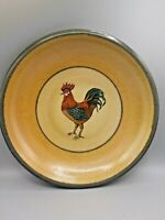 "XL Monroe Salt Works Maine Rooster Pottery 12.75"" Serving Platter Shallow Bowl"