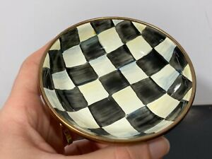 MacKenzie Childs Hand Painted Small Checkered Bowl Dish