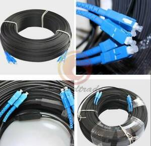 1PC 250M Outdoor SC-SC Duplex FTTH Drop Patch Cord G657 Fiber Optic Cable Jumper