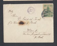 ITALY FIUME 1920's 20C SOLO FRANKING COVER TO VIENNA AUSTRIA