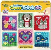 Children's Craft Set Designs Cross Stitch Kit Kids 6 Tapestry Traditional Sewing