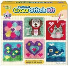 Kreative Kids Set of 6 Cross Stitch Boards Children Tapestry Sewing Craft