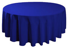 "90"" Round Tablecloth Table Cover Seamless Wedding Banquet - ROYAL BLUE"