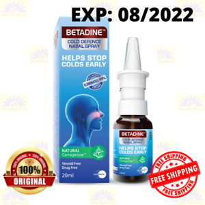 BETADINE Adult Cold Defence Nasal Spray 20ml Helps Stop Colds Early EXP:08/2022