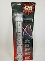 1999 Rubie's Large Star Wars Episode 1 DARTH MAUL LIGHTSABER 5 feet Lights New