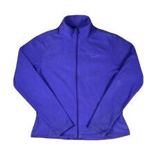 Nike Therma-FIT Fleece Jumper Women's Size L Purple Full-Zip Polyester Swoosh
