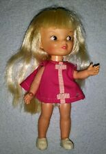 Vintage 1960's Remco Heidi blonde waving Doll w/pink Dress & Shoes
