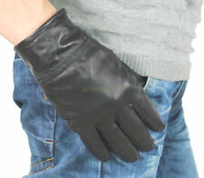 New Nice Men's Black Winter Warm Gloves, 100% Real Leather Gloves