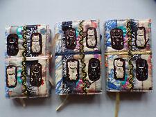 KAT Croker Bordado Libro, chino Lucky Cat Feng Shui Diseño, portátil pequeña