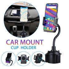 Adjustable Car Cup Holder Phone Mount Gooseneck 360° For iPhone 11 Samsung S10