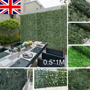 4pcs Artificial Faux Ivy Leaf Hedge Panels Privacy Screening Garden Fence Decor
