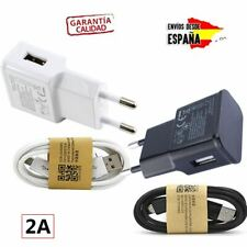 CARGADOR UNIVERSAL MICRO USB PARA MOVIL Y TABLET DE CARGA RÁPIDA BLANCO NEGRO