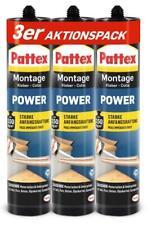3x Pattex Montage Kleber Power Kraftkleber Weiß 370g
